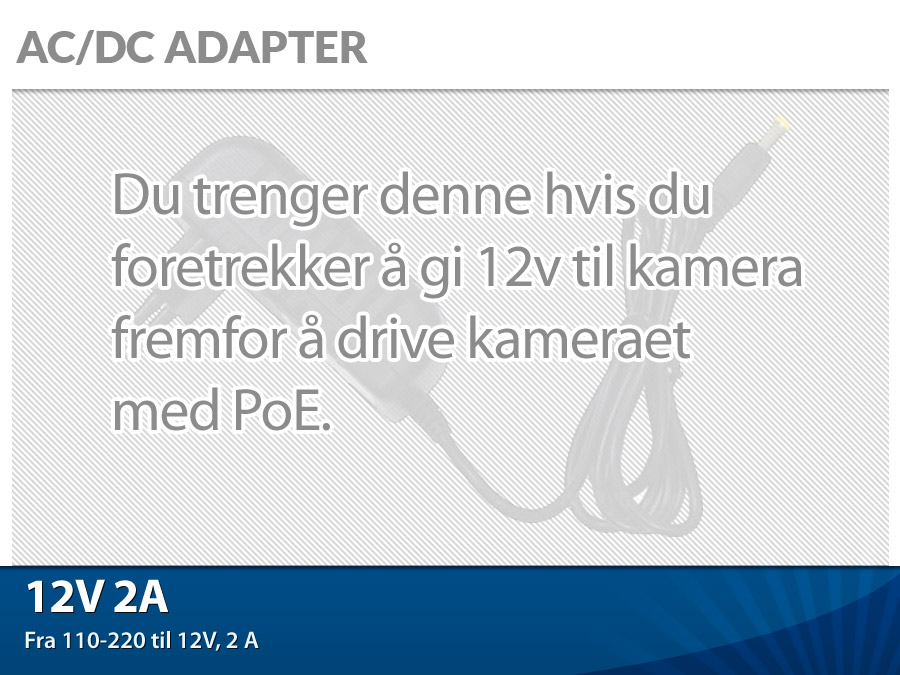AC/DC adapter 12v 2A