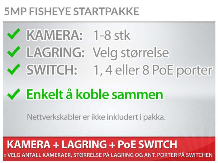Fisheye startpakke