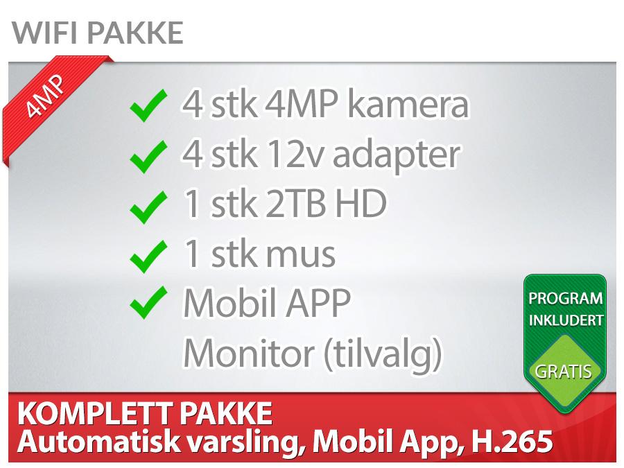 WIFI 4x4MP 2TB